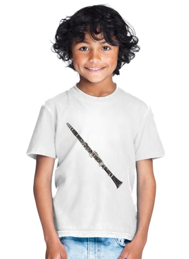 tshirt enfant Clarinette Musical Notes