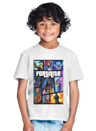 tshirt enfant Fortnite - Battle Royale Art Feat GTA