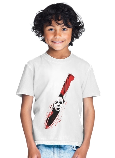 tshirt enfant Hell-O-Ween Myers knife