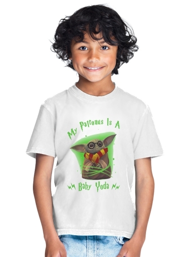 tshirt enfant My patronus is baby yoda