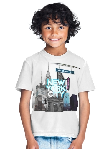 tshirt enfant New York City II [blue]
