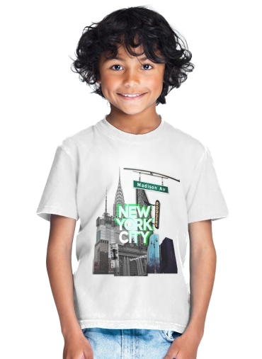 tshirt enfant New York City II [green]