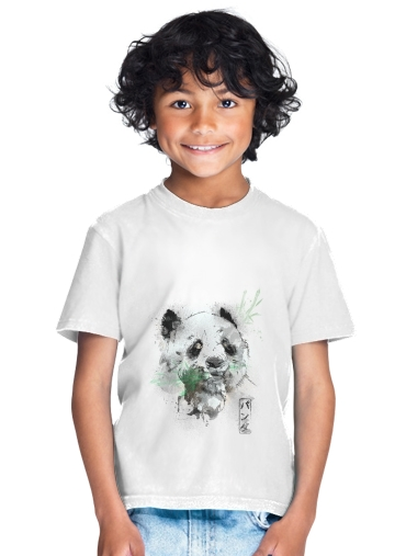 tshirt enfant Panda Watercolor