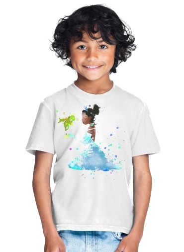 tshirt enfant Princess Tiana Watercolor Art