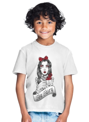 tshirt enfant Scary zombie Alice drinking tea