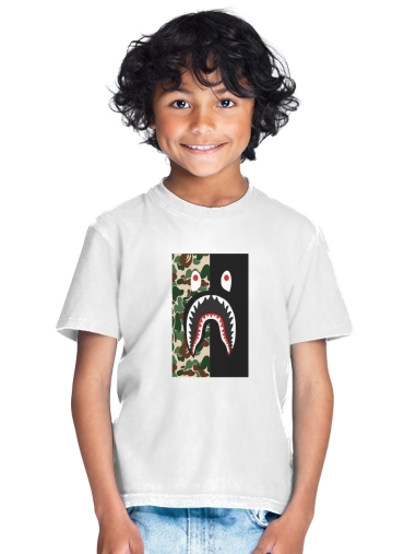 tshirt enfant Shark Bape Camo Military Bicolor