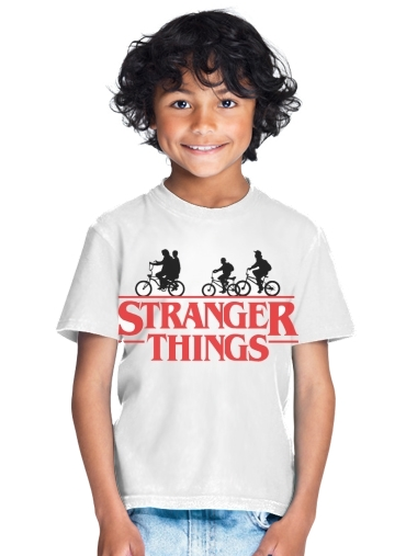 tshirt enfant Stranger Things by bike