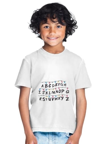 tshirt enfant Stranger Things Lampion Alphabet Inspiration
