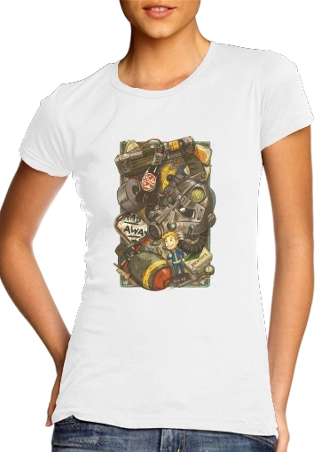 Tshirt Fallout Painting Nuka Coca femme
