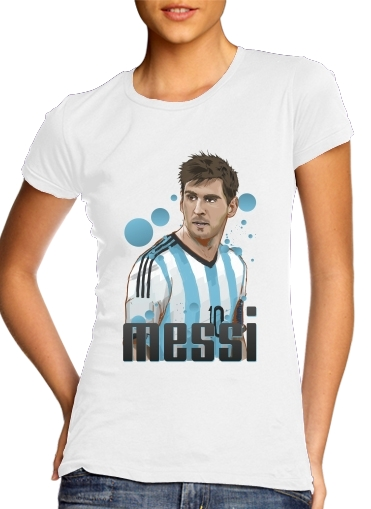 Tshirt Football Legends: Lionel Messi - Argentina femme