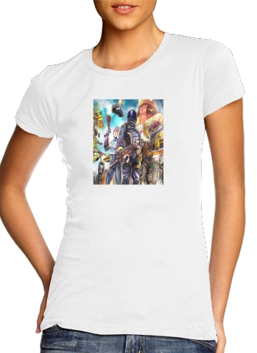 Tshirt Fortnite Characters with Guns femme