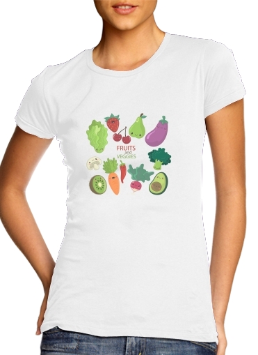 Tshirt Fruits and veggies femme