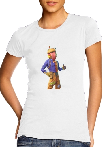 Tshirt Hamburger Fortnite skins Beef Boss femme