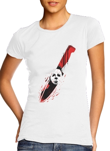 Tshirt Hell-O-Ween Myers knife femme
