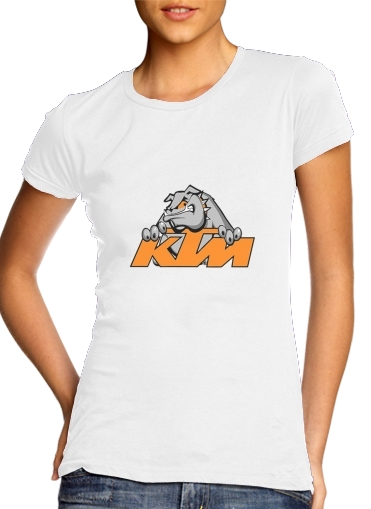 Tshirt KTM Racing Orange And Black femme