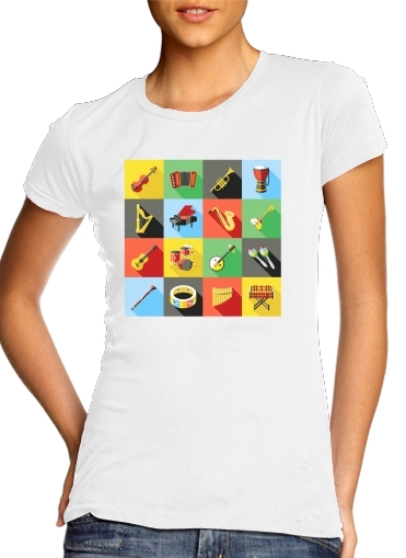 Tshirt Music Instruments Co femme