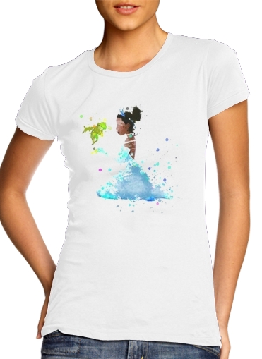 Tshirt Princess Tiana Watercolor Art femme