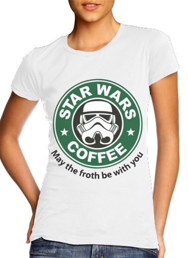 Tshirt Stormtrooper Coffee inspired by StarWars femme