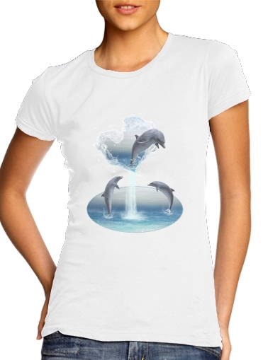 Tshirt The Heart Of The Dolphins femme