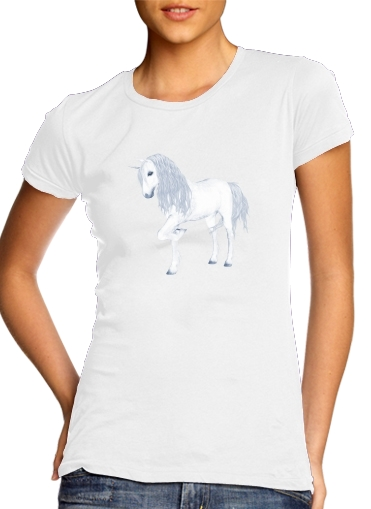 Tshirt The White Unicorn femme