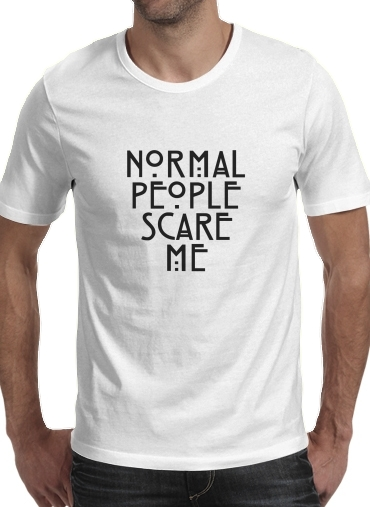 Tshirt American Horror Story Normal people scares me homme