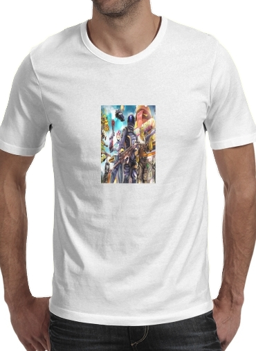 Tshirt Fortnite Characters with Guns homme