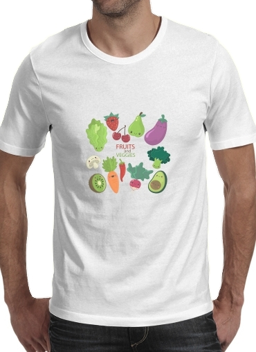 Tshirt Fruits and veggies homme