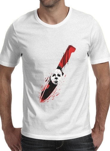 Tshirt Hell-O-Ween Myers knife homme
