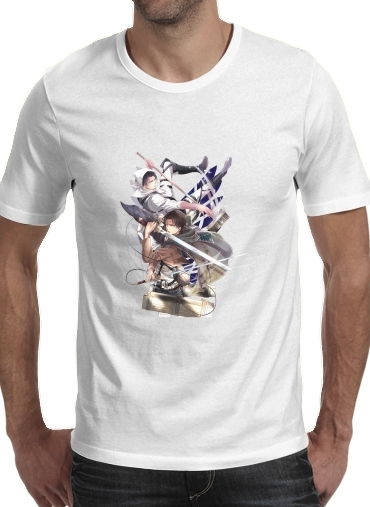 Tshirt Livai Attack on Titan homme