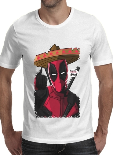 Tshirt Mexican Deadpool homme