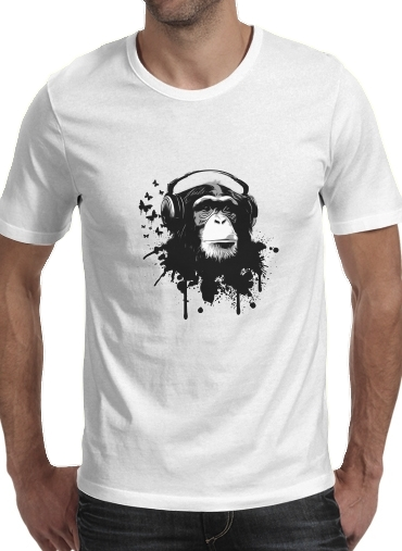 Tshirt Monkey Business - White homme