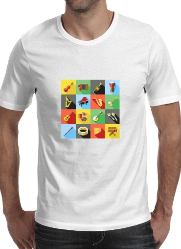 Tshirt Music Instruments Co homme