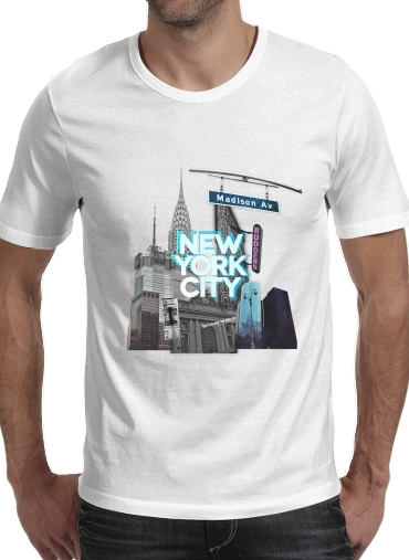 Tshirt New York City II [blue] homme