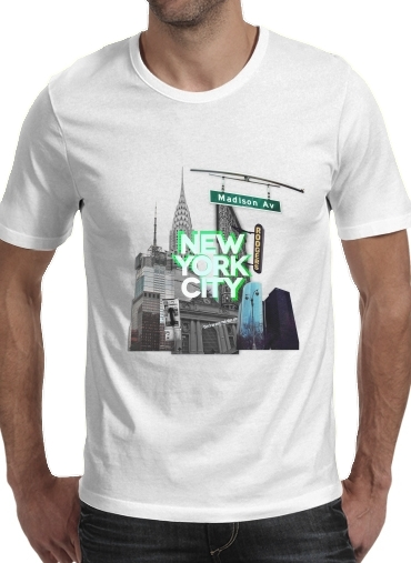 Tshirt New York City II [green] homme