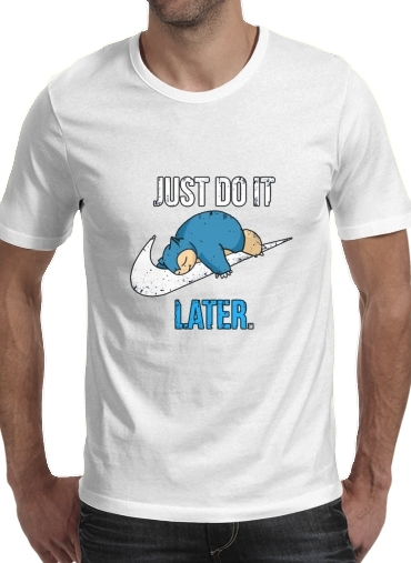 Tshirt Nike Parody Just do it Late X Ronflex homme