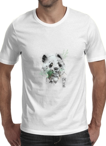 Tshirt Panda Watercolor homme