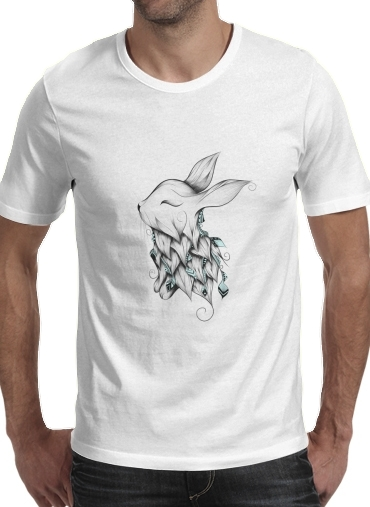 Tshirt Poetic Rabbit  homme