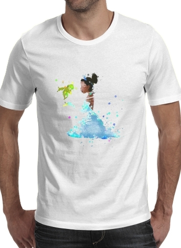 Tshirt Princess Tiana Watercolor Art homme