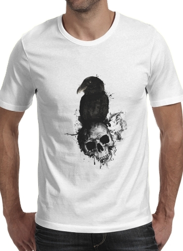 Tshirt Raven and Skull homme