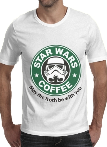 Tshirt Stormtrooper Coffee inspired by StarWars homme