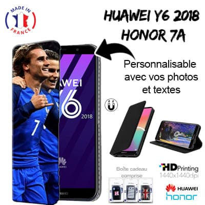 Cover Personalizzata a Libro Huawei Y6 2018 / Honor 7A