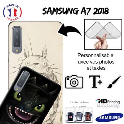 cover samsung a7 2018 con anello