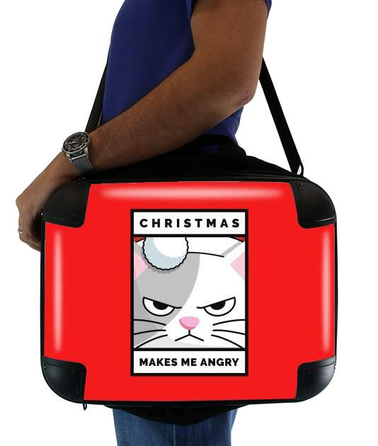 borsa Christmas makes me Angry cat