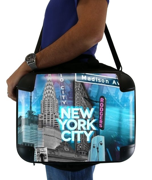 sacoche ordinateur New York City II [blue]