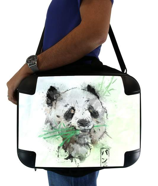 sacoche ordinateur Panda Watercolor