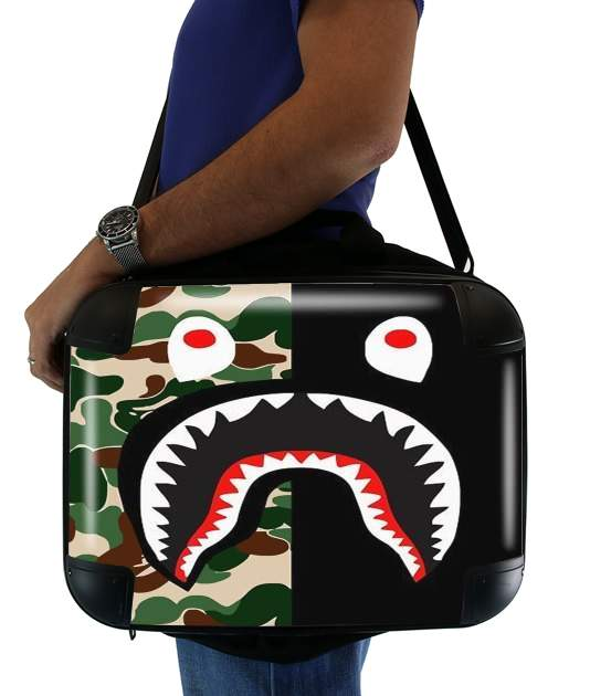 sacoche ordinateur Shark Bape Camo Military Bicolor