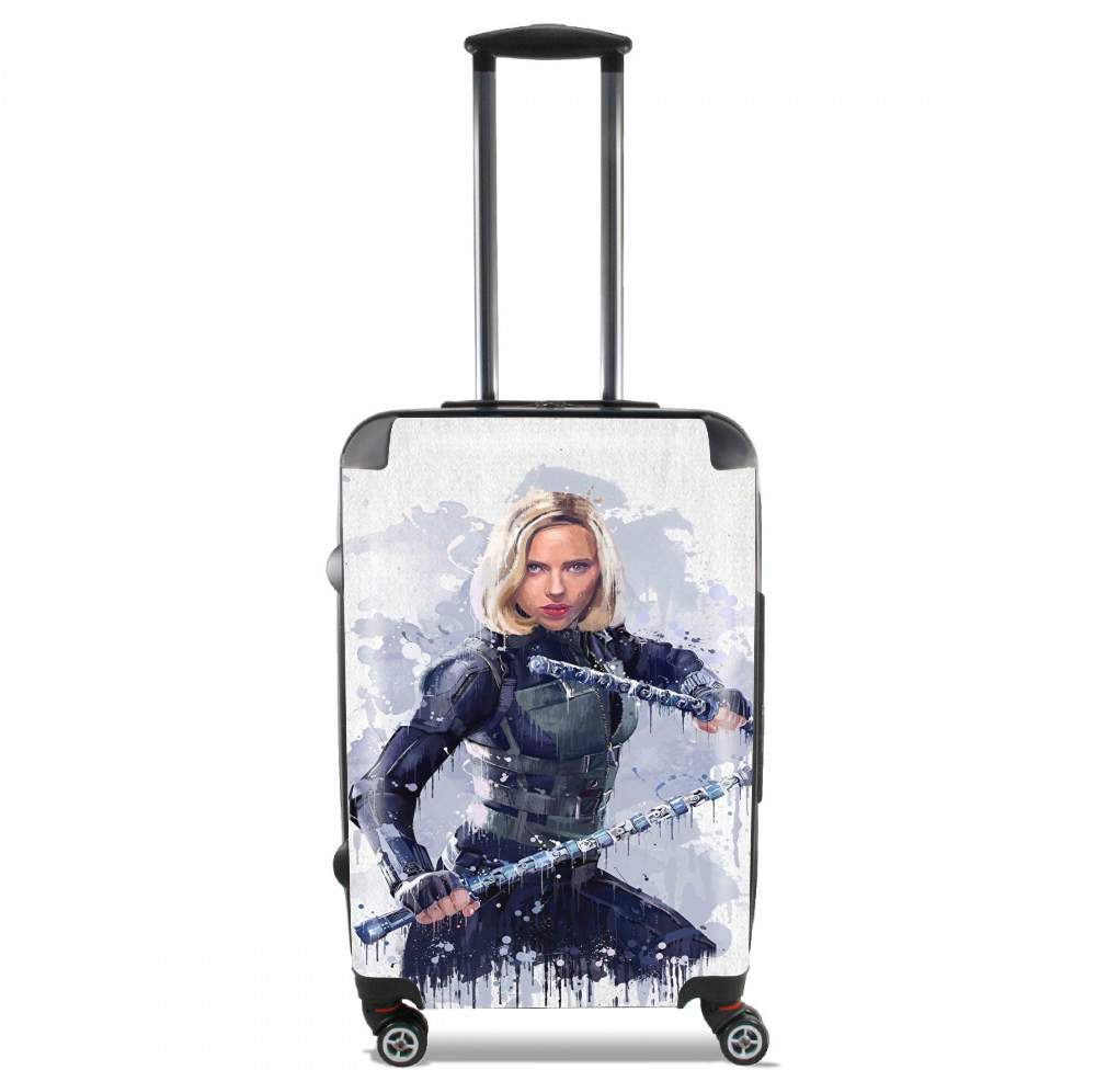 valise Black Widow Watercolor art