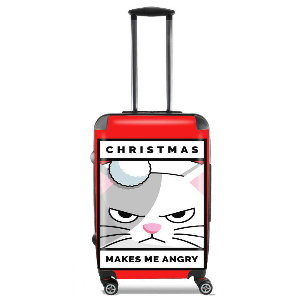 valise Christmas makes me Angry cat
